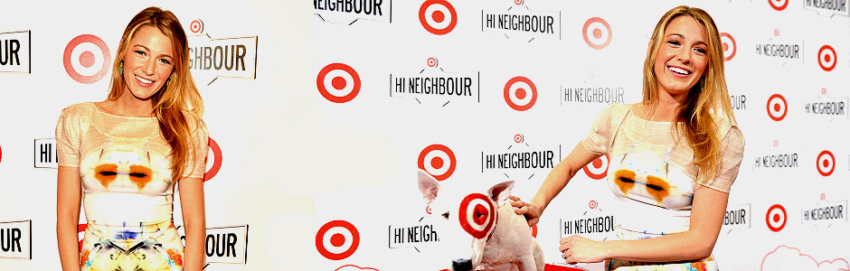 Blake Lively attends Target at Shoppers World Danforth