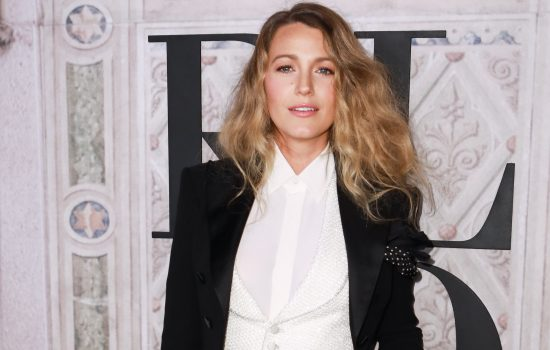Blake Lively attends the Ralph Lauren 50th Anniversary show during the NYFW