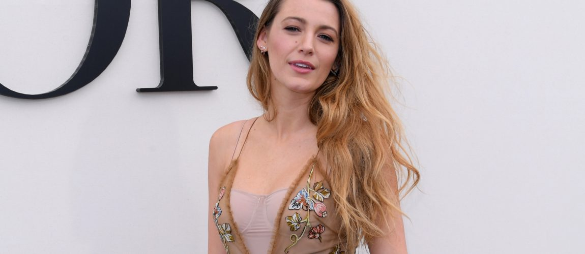 Blake Lively attends the Christian Dior fashion show